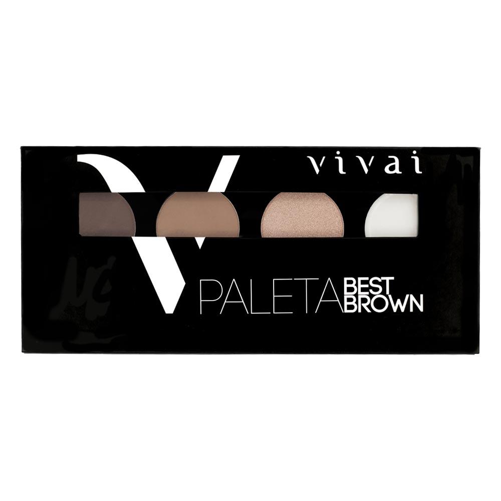 Paleta Para Sobrancelha Vivai Best Brown