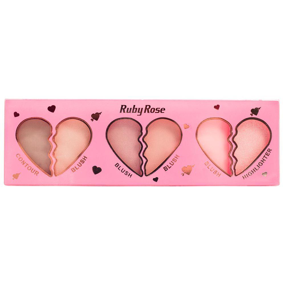 Paleta Ruby Rose Contour Blush Highlighter