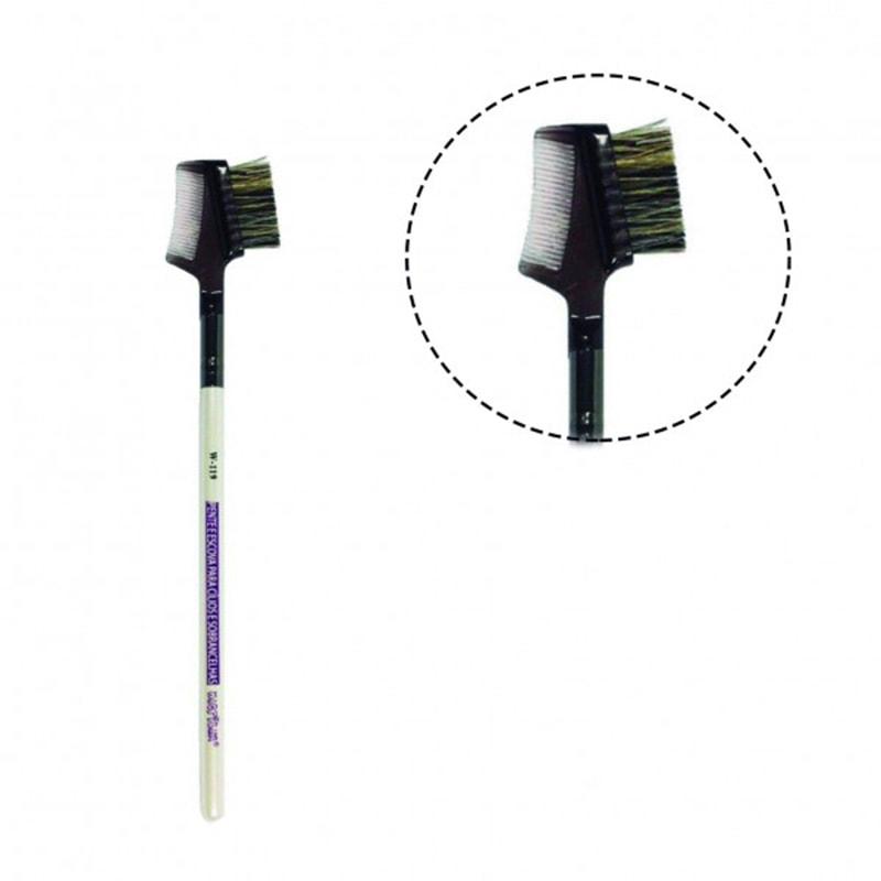 Pente e Escova Para Cílios e Sobrancelhas Macrilan Linha W W119
