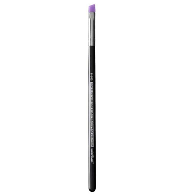 Pincel de Silicone Chanfrado Para Delinear Macrilan Linha B B605