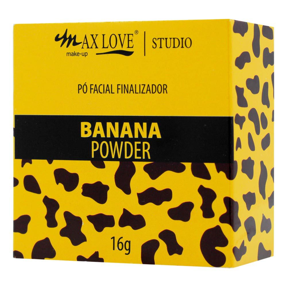 Pó Facial Finalizador Max Love Banana Powder