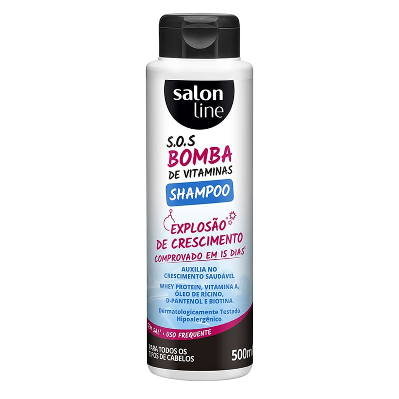 Shampoo Salon Line S.O.S Bomba de Vitaminas 500ml