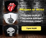Máscara em Tecido  kit com 3 ( Cod. 033, 002, 035 )