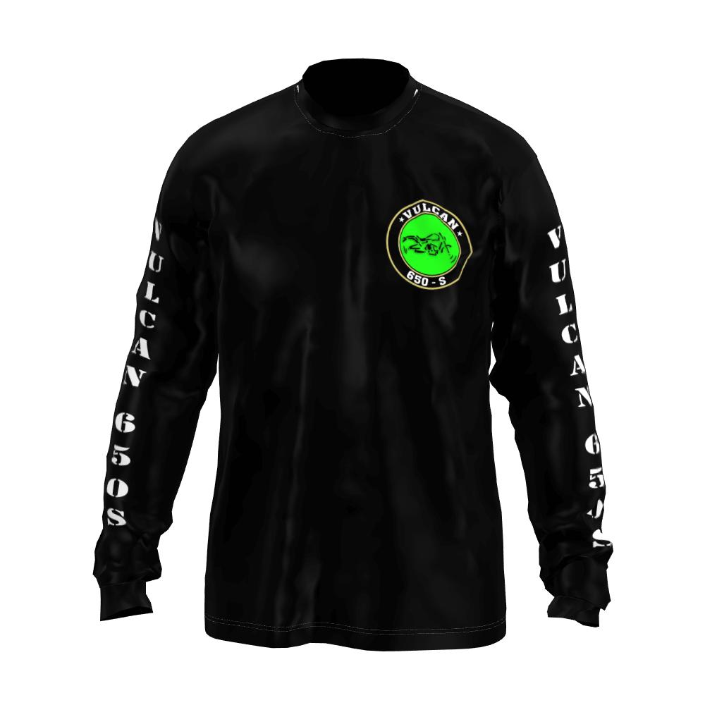 Camiseta Vulcan 650 s Black M Longa