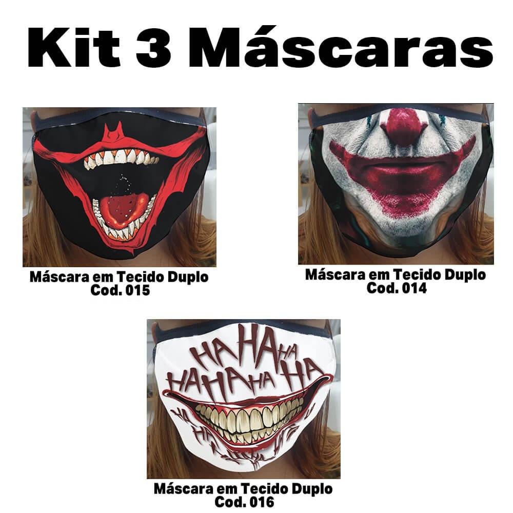 Máscara em Tecido  kit com 3 ( Cod. 014, 015, 016 )