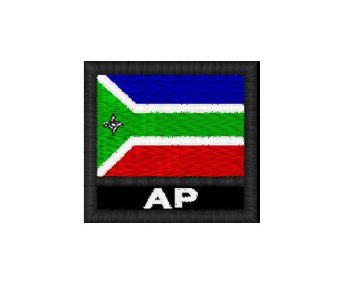 Patch Bandeira 4x4 cm - Amapá (AP)