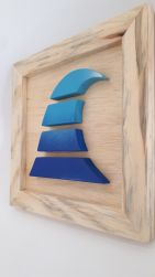 Quadro Wave Wood