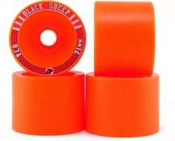 Roda Black Sheep 71mm Amarela - 83A - Roda Longboard 71mm 83A