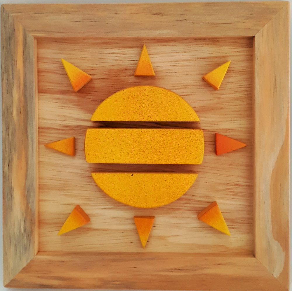 Quadro Sol Wood