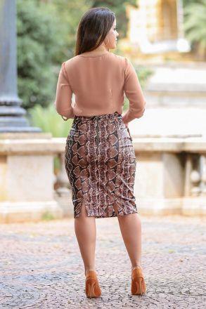 Blusa em Crepe com Detalhe Argolas Kauly Moda Evangelica 2478