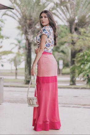 Blusa em Crepe Estampado Luciana Pais 92327