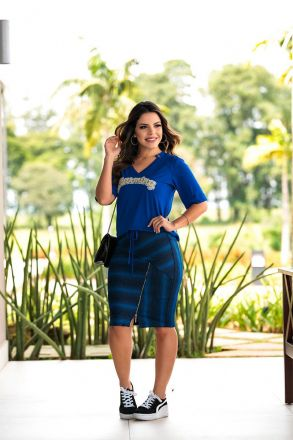Blusa em Malha com Aplique Luciana Pais 92422