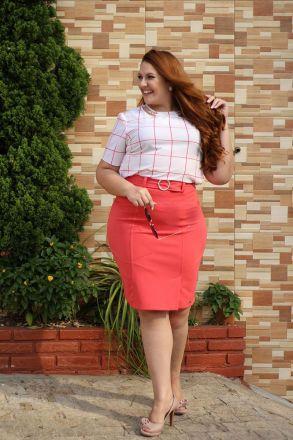 Blusa Plus Size Crepe Kauly Moda Evangélica 2305