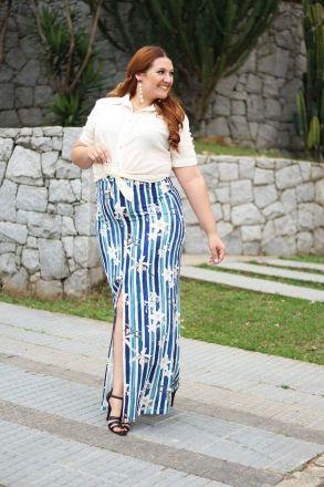 Blusa Plus Size em Crepe Kauly 2323