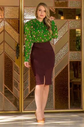 Camisa Chiffon Fios de Lurex Kauly 2878 Verde
