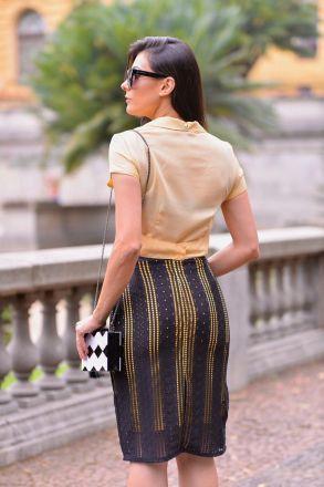 Camisa em Crepe com Cinto Luciana Pais 92303