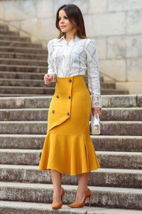 Camisa em Lurex Detalhe Renda Kauly Moda Evangelica 2494
