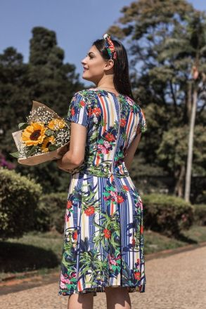 Cropped Viscose Estampada Moda Evangélica Luciana Pais 92216