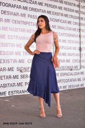 Saia Transpassada com Forro Luciana Pais 92275
