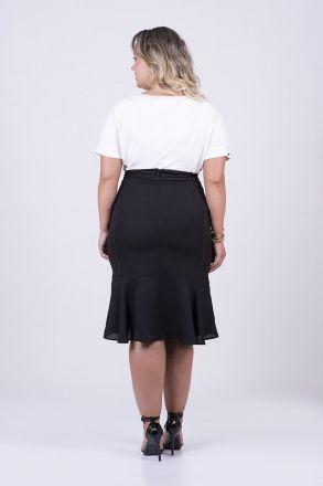 T-shirt Plus Size em Malha Detalhe Bordado Kauly Moda Evangélica 2461