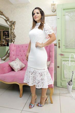 Vestido Bandagem com Fios de Rayon Luciana Pais 92618