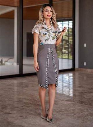 Vestido Botânico  Monia Moda Evangélica 83157