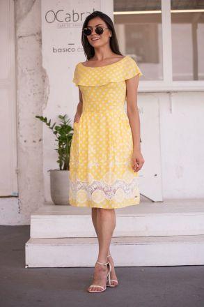 Vestido Ciganinha em Lasie com Forro Luciana Pais 92361