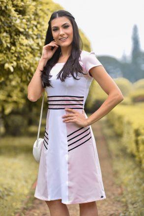 Vestido com Fita de Veludo Luciana Pais 92299