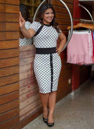 Vestido de Malha Monia Moda Evangélica 86158
