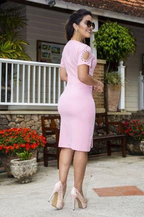 Vestido Alfaiataria Kauly Moda Evangélica 2254