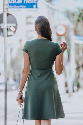 Vestido em Crepe com Forro Detalhe Elástico LP 92284