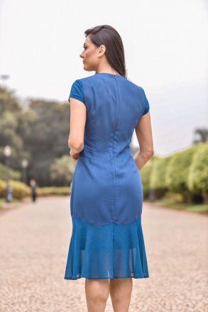 Vestido em Crepe com Forro Luciana Pais 92296