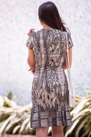 Vestido em Crepe Estampado Luciana Pais 92319