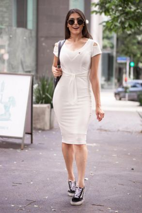 Vestido em Malha com Forro Detalhe Aplicação Luciana Pais 92356