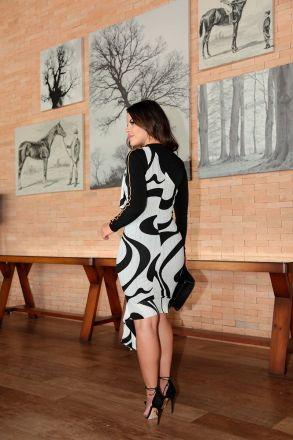 Vestido em Malha com Forro Detalhe Fivela Luciana Pais 92419