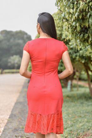 Vestido em Malha com Forro Detalhe Renda Luciana Pais 92295