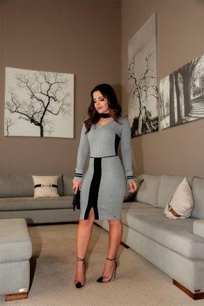 Vestido em Malha Detalhe Preto Luciana Pais 92424
