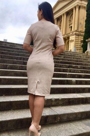 Vestido em Malha Estampado com Forro Kauly 2380