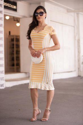 Vestido em Malha Listrada Luciana Pais 92359