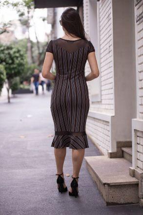Vestido em Malha Lurex com Forro Luciana Pais 92364