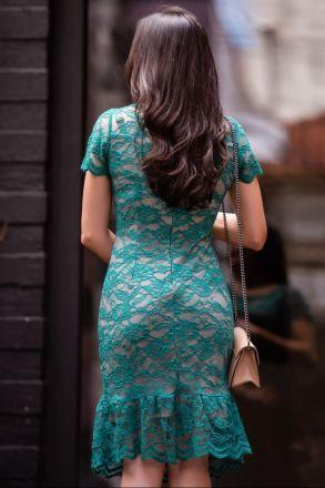 Vestido em Renda com Forro Luciana Pais 92325
