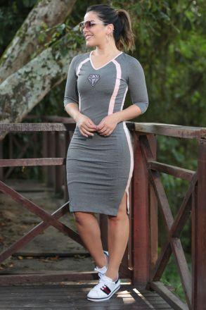 Vestido Legging Stresh Mescla com Forro Luciana Pais 92479