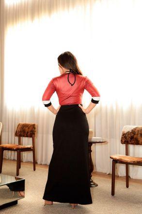 Vestido Longo em Malha com Forro Luciana Pais 92430