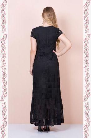 Vestido Longo Lisie com Forro Moda Evangélica Kauly 2366