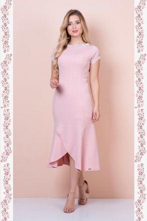 Vestido Longo Sereia em Malha Kauly Moda Evangélica 2376