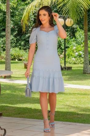 Vestido Luciana Pais Crepe Detalhe Renda 92935