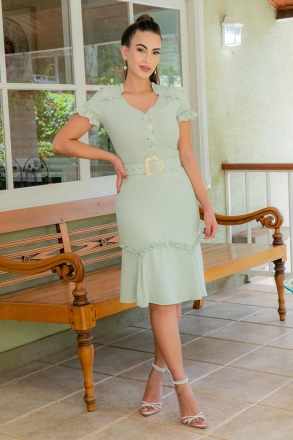 Vestido Luciana Pais Linho com Cinto 92968