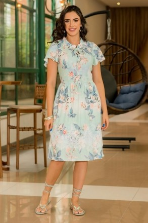 Vestido Luciana Pais Malha Canelada 92919 Estampado