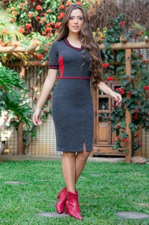 Vestido Luciana Pais Malha Canelada 93119