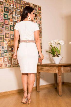 Vestido Malha com Forro Luciana Pais Moda Evangélica 92200